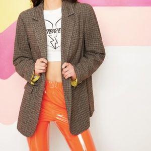 NWT SHEIN Oversized Plaid Blazer